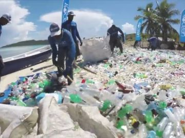 Luchan contra el plástico transformando sus restos en bañadores, bolsos o cepillos de dientes