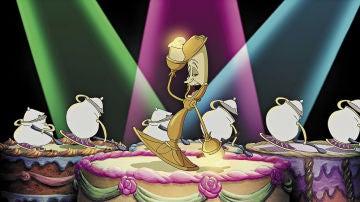 Lumière canta '¡Qué festín!' en 'La Bella y la Bestia'