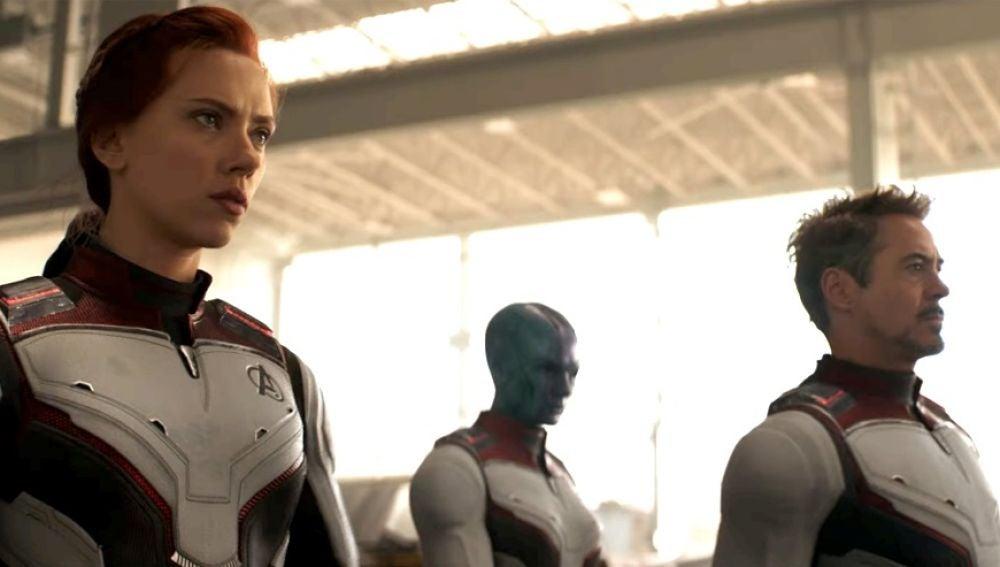 Scarlett Johansson y Robert Downey Jr. en 'Vengadores: Endgame'
