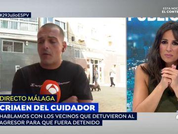 'Espejo Público' habla con el vecino que retuvo al asesino del crimen del cuidador