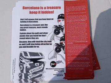 Campaña contra la masificación de turistas en Barcelona