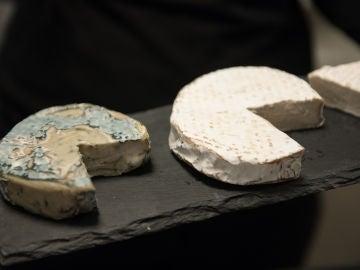 Tres variedades de queso