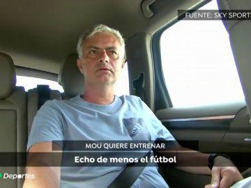 """Mourinho: """"Tengo que esperar a la oferta adecuada, y esa es la que tenga la dimensión de lo que soy"""""""