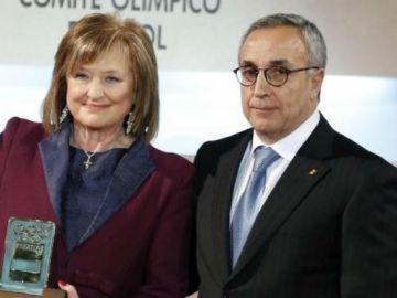 Mari Carmen Izquierdo, junto a Alejandro Blanco