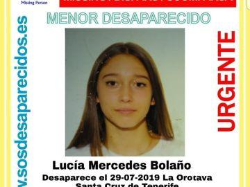 Lucía Mercedes continua desaparecida