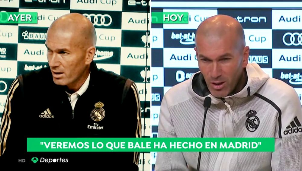 """Zidane, sobre Bale y el golf : """"Espero que haya entrenado, no me voy a meter en su vida personal"""""""
