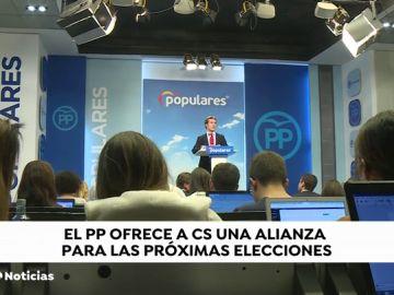 Casado quiere una lista conjunta con Ciudadanos tras los buenos resultados en Navarra