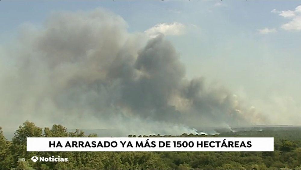 El fuego de Barchín del Hoyo podría quedar controlado este miércoles y ya ha afectado 1.500 hectáreas