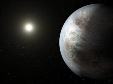 Fotografía cedida por la NASA que muestra un concepto artístico de Kepler-452b