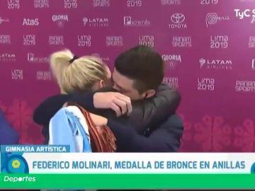 La pedida de matrimonio de Molinari después de ganar un bronce en los panamericanos