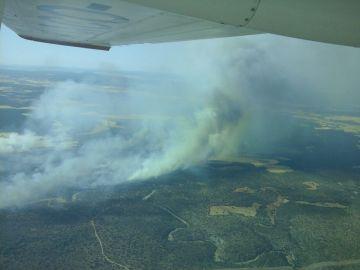Vista aérea del incendio de Barchín del Hoyo, Cuenca