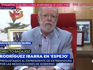 """Rodríguez Ibarra: """"Los trenes de Extremadura si funcionan pero se quedan sin gasolina, eso es un sabotaje"""""""