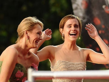 J.K. Rowling y Emma Watson