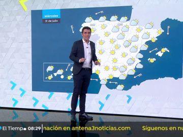 Fuertes vientos en el sureste de la península y en zonas de Canarias