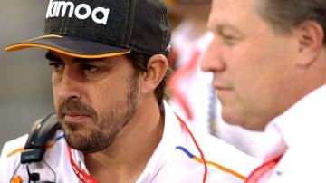 Fernando Alonso en el GP de Bahrain