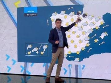 Tormentas en el norte de la península y tiempo estable en el resto del país