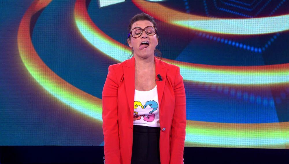 Silvia Abril interpreta a la niña de 'Shrek' en el plató de '¡Ahora caigo!'