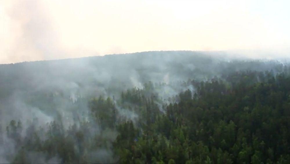 Vladimir Putin pide al Ejército ruso que ayude en la extinción de los incendios que han asolado 2,3 millones de hectáreas