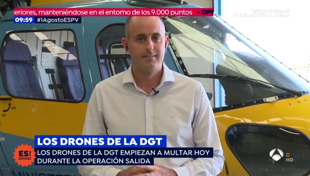 Los drones de la DGT  empiezan a multar