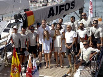 Los Reyes y sus hijas asisten a la 38ª Copa del Rey Mapfre en Palma
