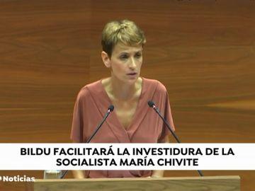 María Chivite no consigue ser investida en la primera votación