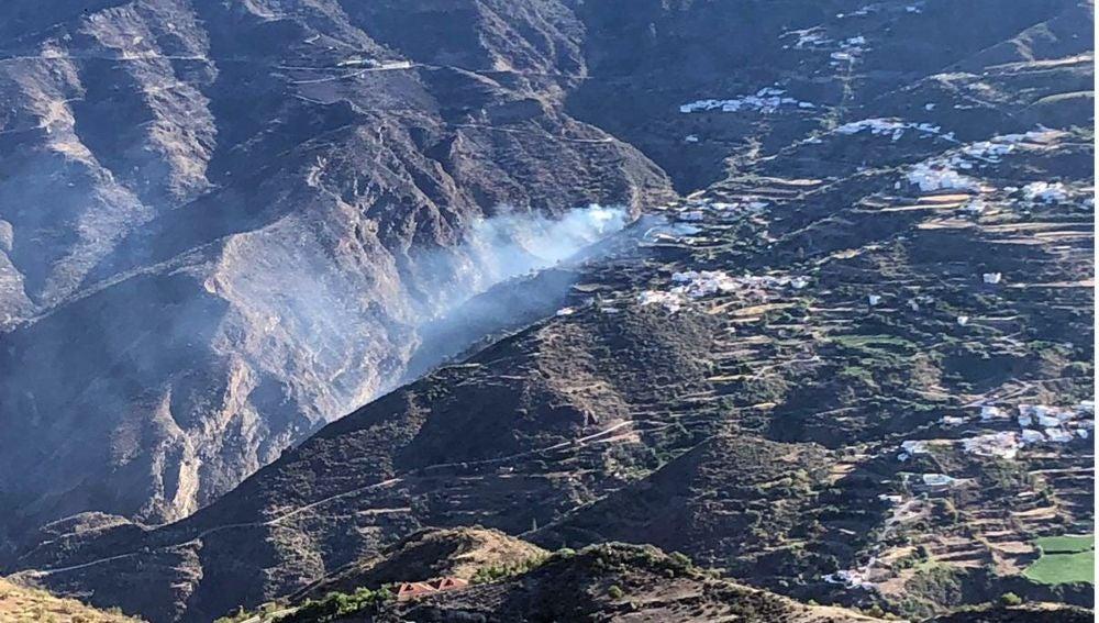 Imagen aérea del incendio de Gran Canaria