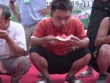Concurso de comer sandía