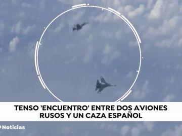 Tenso encuentro entre dos cazas rusos y un caza español en el espacio aéreo del mar Báltico