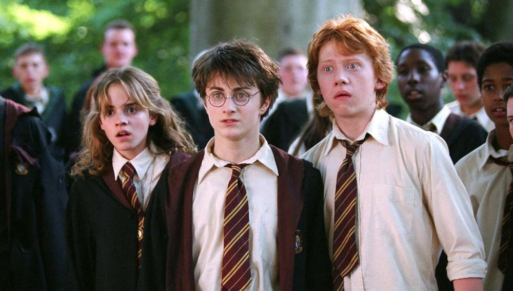 Hermione, Harry y Ron en 'Harry Potter'