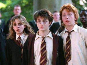 Hermione, Harry y Ron en 'Harry Potter'