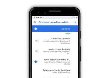 Modo zurdo en Android
