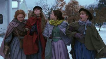 Jo, Beth, Amy y Meg (Saoirse Ronan, Emma Watson, Florence Pugh y Eliza Scanlen) en el tráiler de 'Mujercitas'