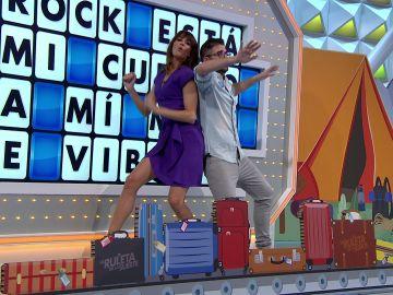 El espectacular baile de Erik y Laura Moure en  'La ruleta de la suerte'