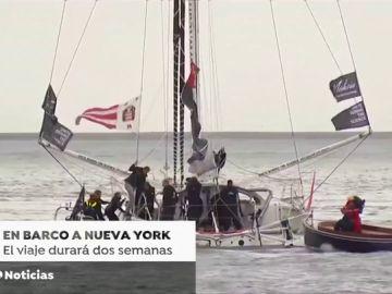 Greta Thunberg se prepara para cruzar el océano Atlántico en un pequeño velero