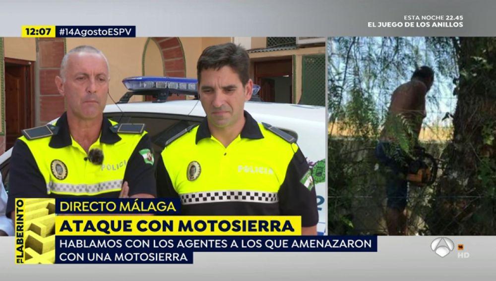 Amenaza a los agentes con una motosierra