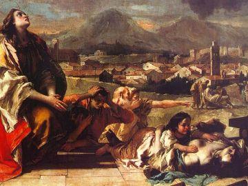 Santa Tecla libera la ciudad de Este de la peste, por Giambattista Tiepolo