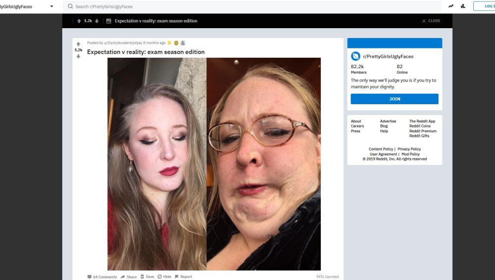 Selfies bonitos y horribles