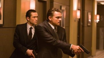 Joseph Gordon Levitt y Leonardo DiCaprio en 'Origen'