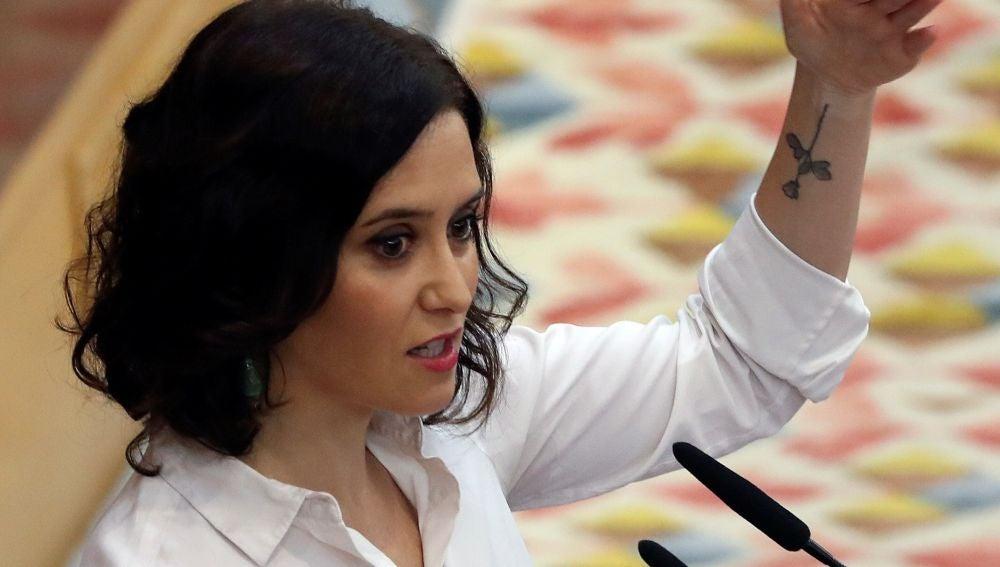 La candidata del PP a la Comunidad, Isabel Díaz Ayuso