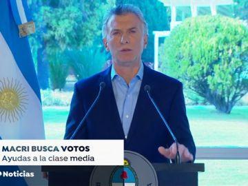 Mauricio Macri anuncia un paquete de medidas tras el varapalo en las primarias de Argentina