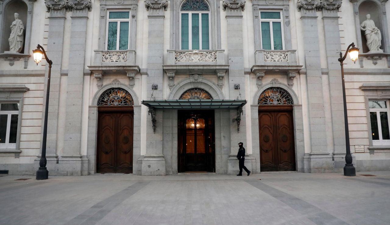 Vista de la fachada del Tribunal Supremo