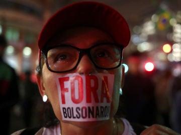 Manifestación contra Bolsonaro en Brasil