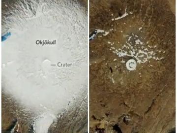 El cambio del glaciar islandés