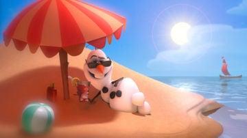 Olaf también está de vacaciones