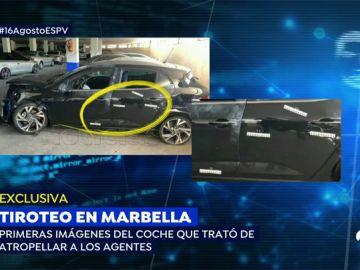 Primeras imágenes del coche del tiroteo de Marbella