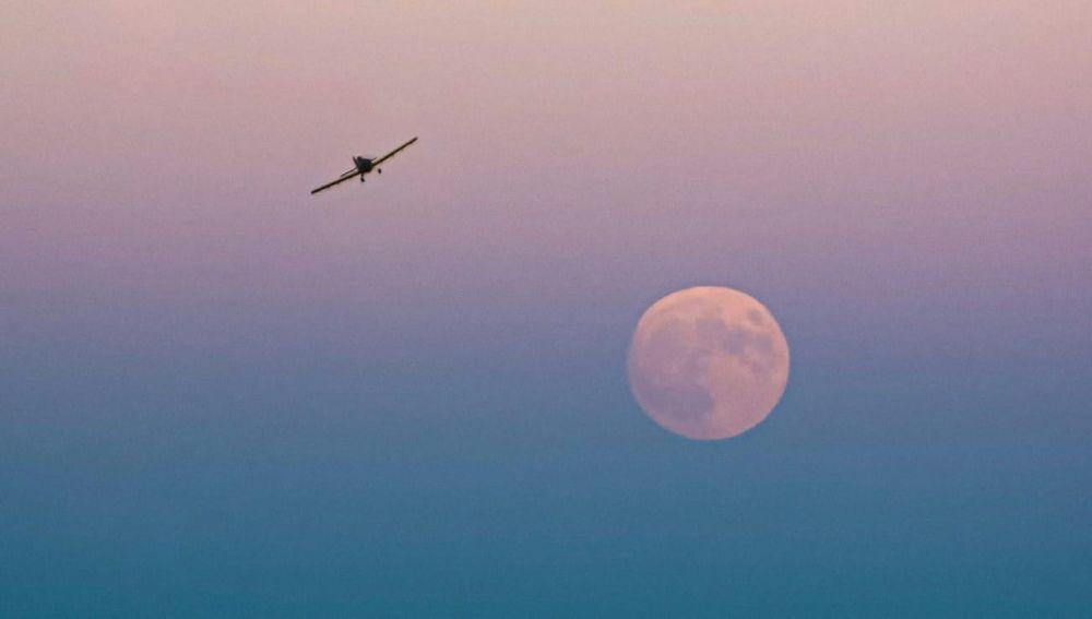 Luna en el Delta del Ebro
