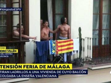 Un grupo de jóvenes lanza ladrillos a una vivienda por confundir la enseña valenciana con la estelada