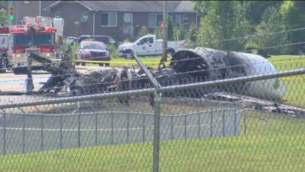 Se estrella el avión privado de un expiloto de NASCAR