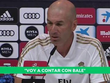 """Zidane, sobre Gareth Bale: """"Parecía que se iba y está aquí"""""""