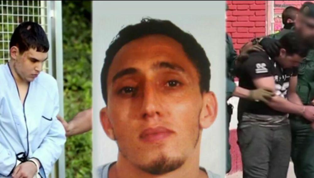 Los tres terroristas encarcelados